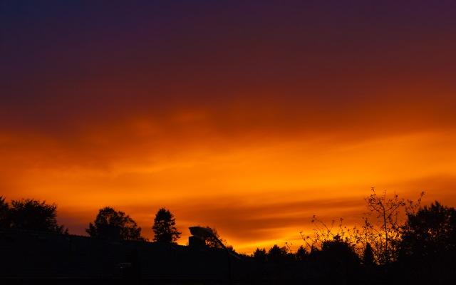 The Sky Outside My Bedroom Window