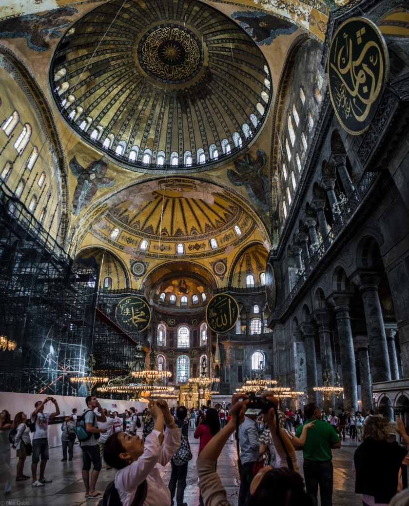 The ceiling of the Hagia Sophia